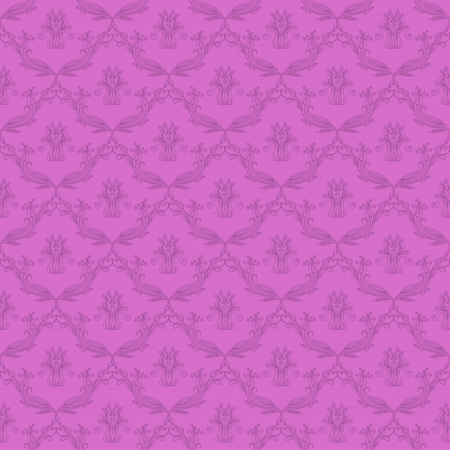 lilac background: Damask seamless floral pattern  Flowers on a lilac background