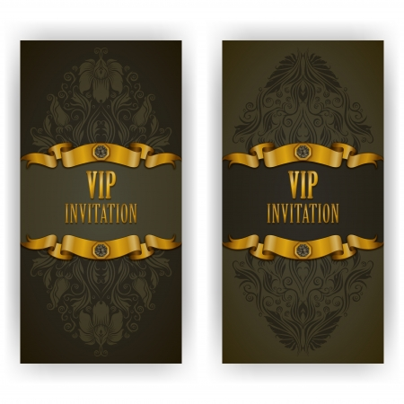 Elegant template luxury invitation, card with lace ornament, place for text. Floral elements, ornate background. Vector illustration EPS 10. Vector