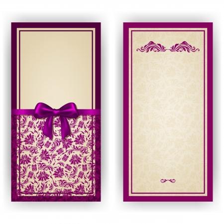 decoracion boda: Invitaci�n elegante de lujo de plantilla, tarjeta con adornos de encaje, arco, el lugar de texto. Elementos florales, fondo adornado.