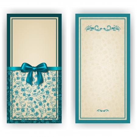 invitation card: Invitaci�n elegante de lujo de plantilla, tarjeta con adornos de encaje, arco, el lugar de texto. Elementos florales, fondo adornado.