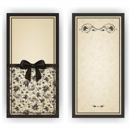 Elegante sjabloon luxe uitnodiging, kaart met kant ornament, boog, plaats voor tekst. Bloemen elementen, sierlijke achtergrond.