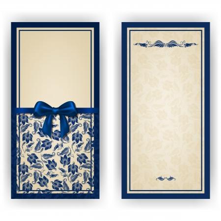 cổ điển: Elegant mời mẫu sang trọng, card với ren trang trí, nơ, nơi dành cho văn bản. Yếu tố Floral, nền trang trí công phu.