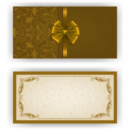 tarjeta de invitacion: Invitaci�n elegante de lujo de plantilla, tarjeta con adornos de encaje, arco, el lugar de texto. Elementos florales, fondo adornado.