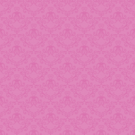 Damask seamless floral pattern  Flowers on a pink background  Vector illustration  Vector