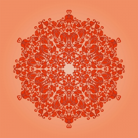 Ornate round lace pattern, circle background with floral details  Vintage lace ornament Stock Vector - 24020697