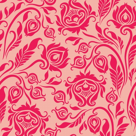 Vector seamless  floral pattern  Rose flowers on a beige background  Vector