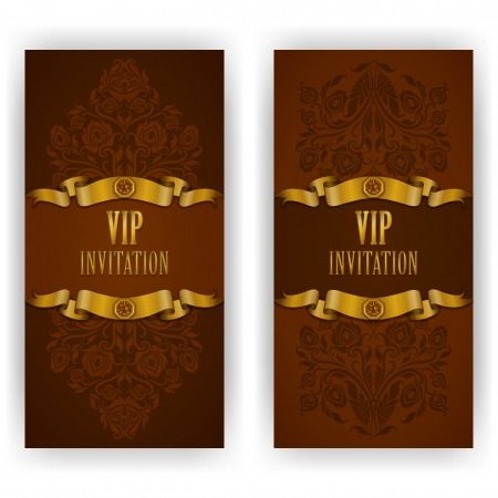 Elegant template luxury invitation, card with lace ornament, place for text  Floral elements, ornate background   Vector