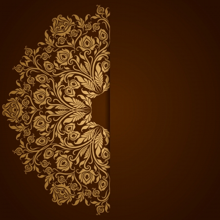 Elegant background with lace ornament and place for text  Floral elements, ornate background  Vector