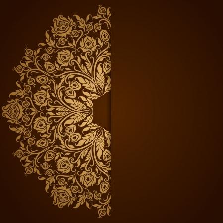 Elegante achtergrond met kant versiering en plaats voor tekst Bloemen elementen, sierlijke achtergrond