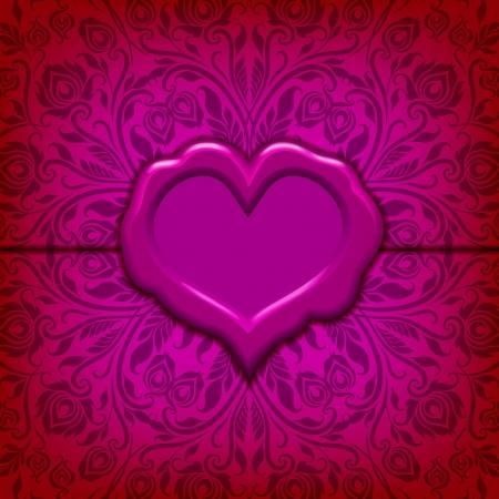 Template Frame Design For Valentine S Day Card Ornate Love