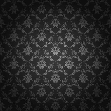 Damask seamless floral pattern. Royal wallpaper. Flowers on a dark background. Vector illustration EPS 10.