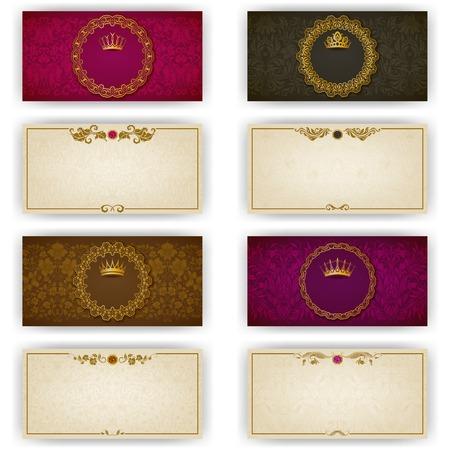 Elegante sjabloon luxe uitnodiging, kaart met kant ornament
