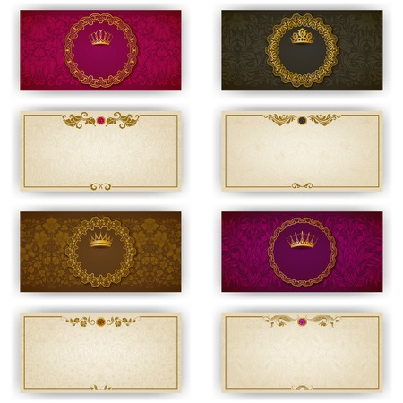Elegant template luxury invitation, card with lace ornament