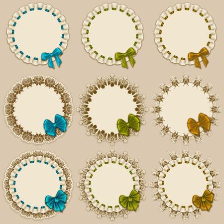 frill: Set of elegant templates of frame design  Illustration