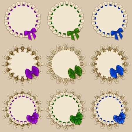 Set of elegant templates of frame design for luxury invitation Vector