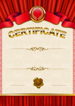 Elegant template of certificate Vector