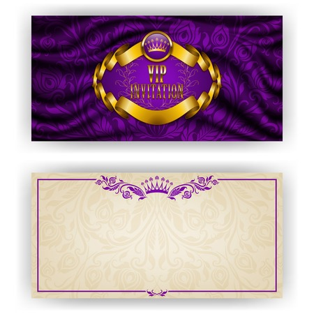 Elegant template for luxury invitation Vector