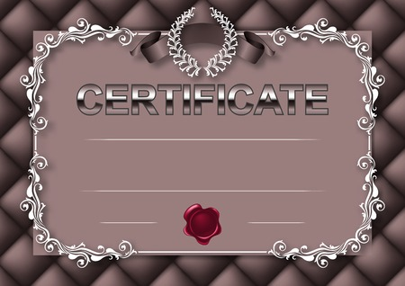 Elegant template of certificate Vector