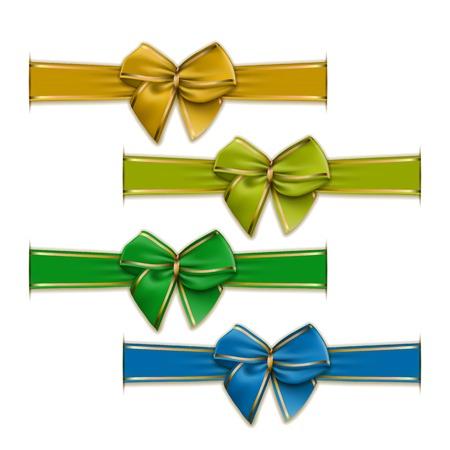 blue bow: Set of elegant silk color bows
