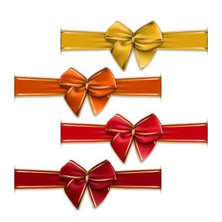 maroon: Set of elegant silk color bows