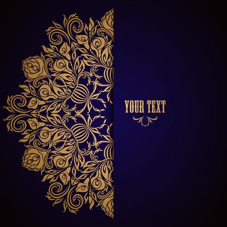Elegant background avec ornement en dentelle et place pour le texte. éléments floraux, fond orné d'invitation de luxe, cadeau, carte de voeux, menu, page web design. Vector illustration EPS10.