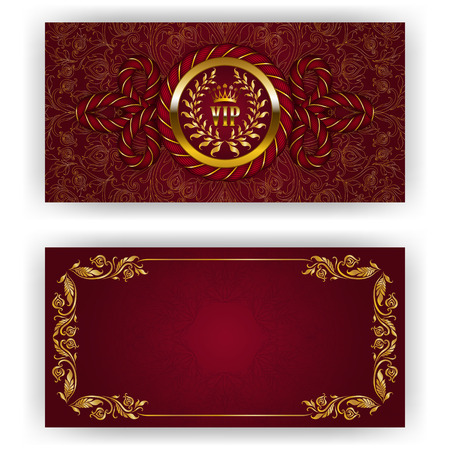 old style: Elegant template for luxury invitation