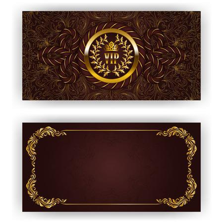 invitacion fiesta: Plantilla elegante de la invitación de lujo Vectores