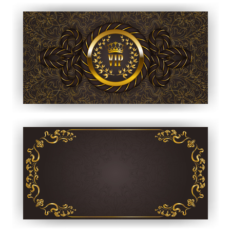luxury template: Elegant template for luxury invitation