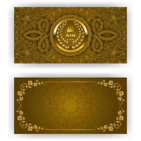 golden frames: Elegant template for luxury invitation