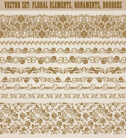set of lace borders for design ornate invitation greeting wedding