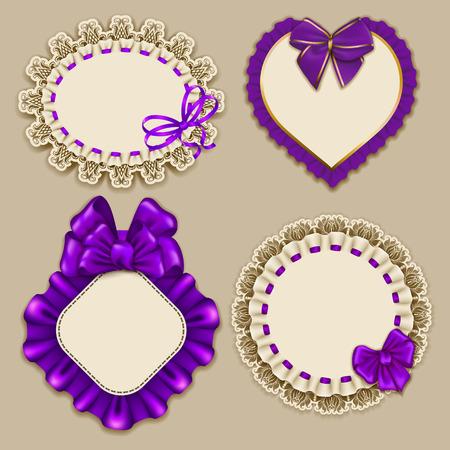 Set of elegant templates frame design Illustration