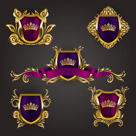 Monogram Logos Set. Illustration