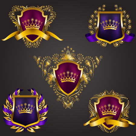 Monogram crowns Set