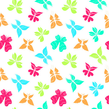 butterfly silhouette: Butterfly seamless pattern, colorful butterfly background, butterflies vector, butterfly silhouette, can be used for design fabric, wrapping paper, package and etc., EPS 8