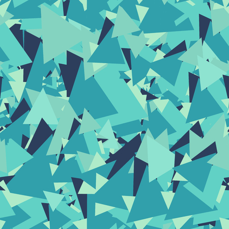 chaotic: Abstract geometric background, blue triangles wallpaper, chaotic seamless pattern
