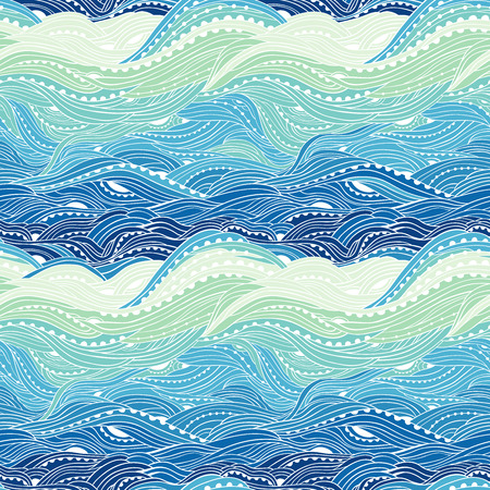 Abstract seamless water pattern,  waves , blue wave background, sea pattern