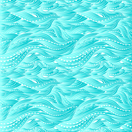 Blue sea wave pattern, abstract water background, blue gradient wallpaper