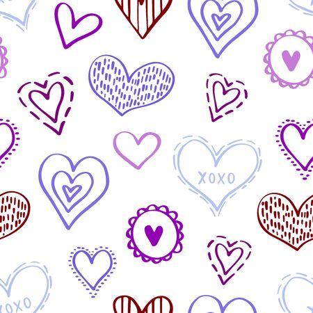 Seamless Hearts Pattern-04 Foto de archivo - 134611833