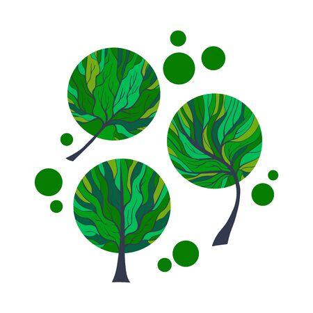Hand Drawn Grown Tree-12 Vettoriali
