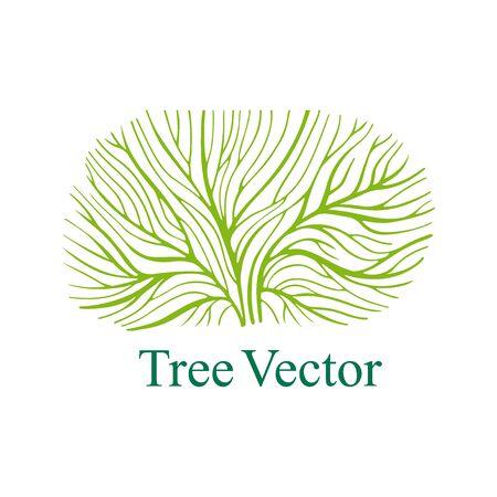 Elegant Vector Tree isolted on white background. Eco Concept. Nature Illustration. EPS 8 Vettoriali