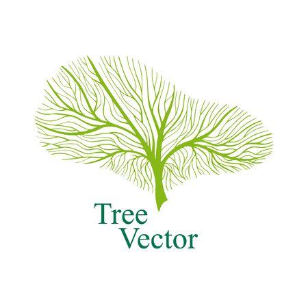 Elegant Vector Tree isolted on white background. Eco Concept. Nature Illustration. EPS 8 Illustration