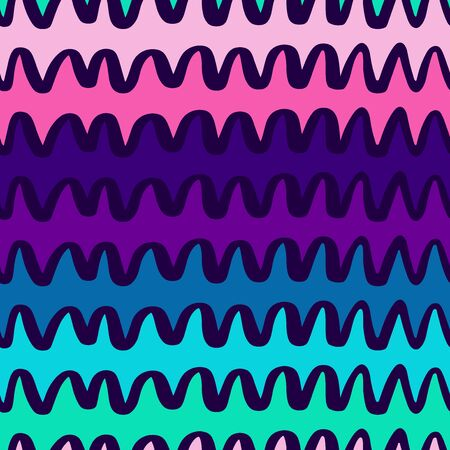 Pink and Violet Wavy Lines Pattern-06 Ilustracja