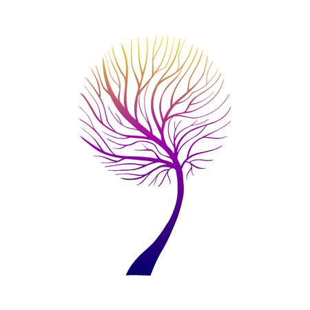 Hand Drawn Grown Tree Gradient-05