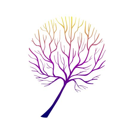 Hand Drawn Grown Tree Gradient-06