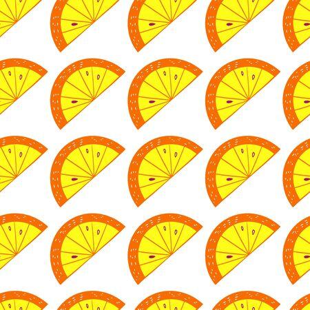 Hand Drawn Cartoon Orange Pattern