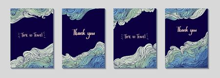Sea Waves Four Frames Diagonal Set