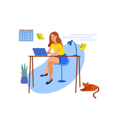 Self-Employed Girl Works at Home-05