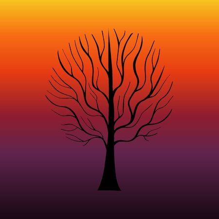 Hand Drawn Grown Tree Gradient-02