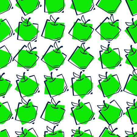 Apple Fun Doodle Seamless Pattern Easy-10