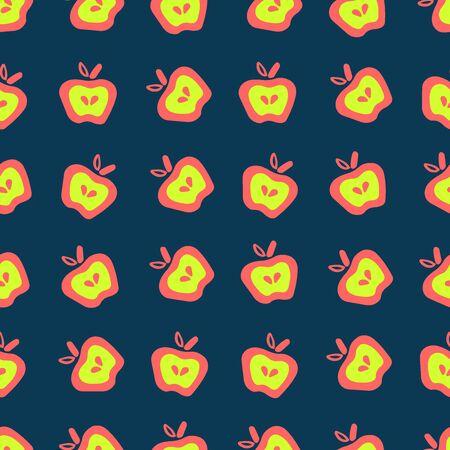 Apple Fun Doodle Seamless Pattern Easy-13